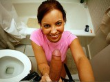 Krystal Banks Hand job on Toilet