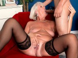 Grandma Jeannie Lou Sucks A 24-Year-Old's Dick