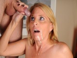 Older Mama Sky Martin Jerks Step Son